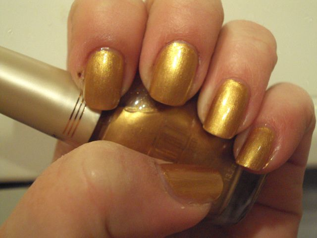 Milani Gold Lame\' Swatch | My Nail Polish Collection | Pinterest