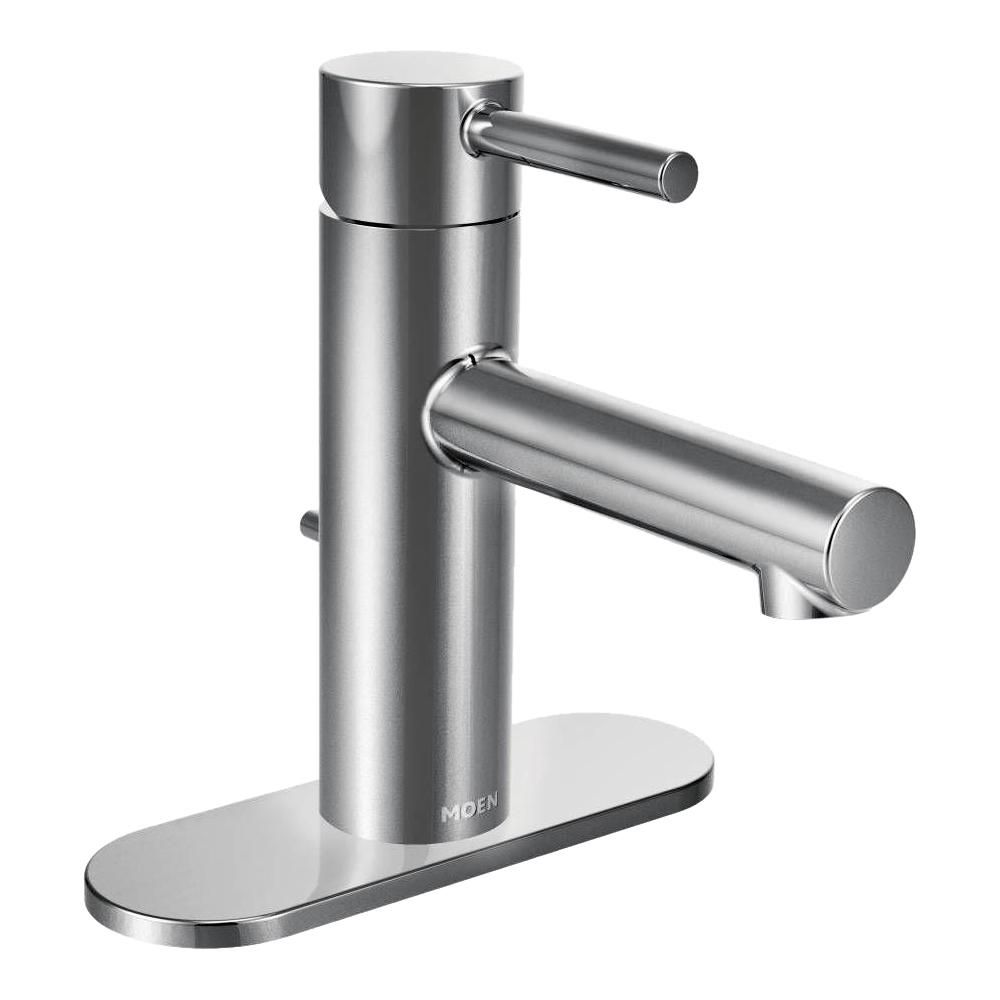 Moen Align Single Hole Single Handle Bathroom Faucet In Chrome