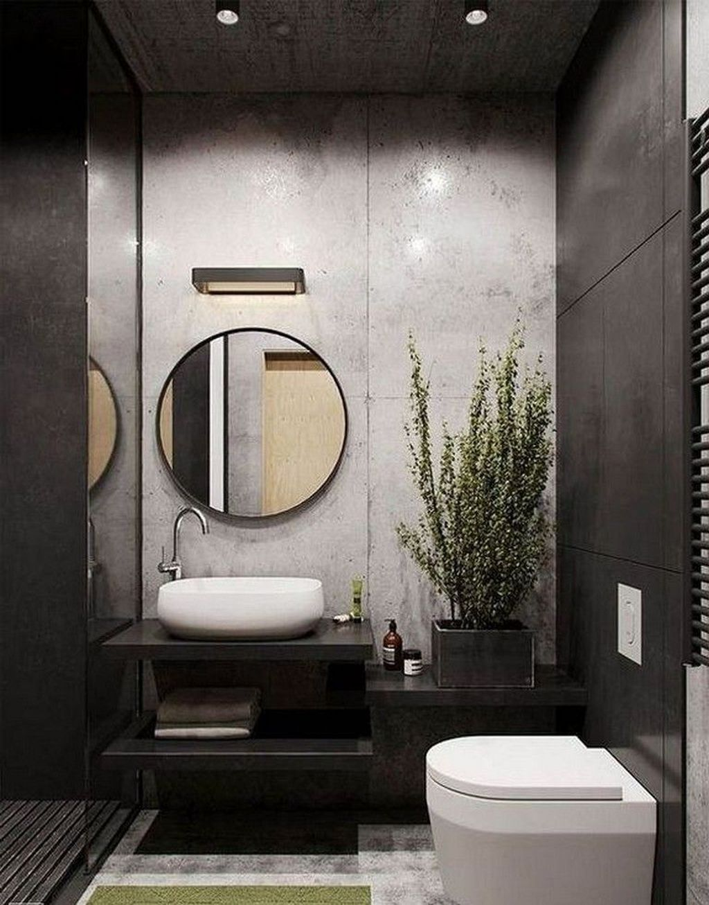 Awesome 37 Modern Apartment Bathroom Designs Ideas For Men More At Https Homyfeed Com 2019 03 24 37 Mo Living Room Loft Small Bathroom Remodel Toilet Design