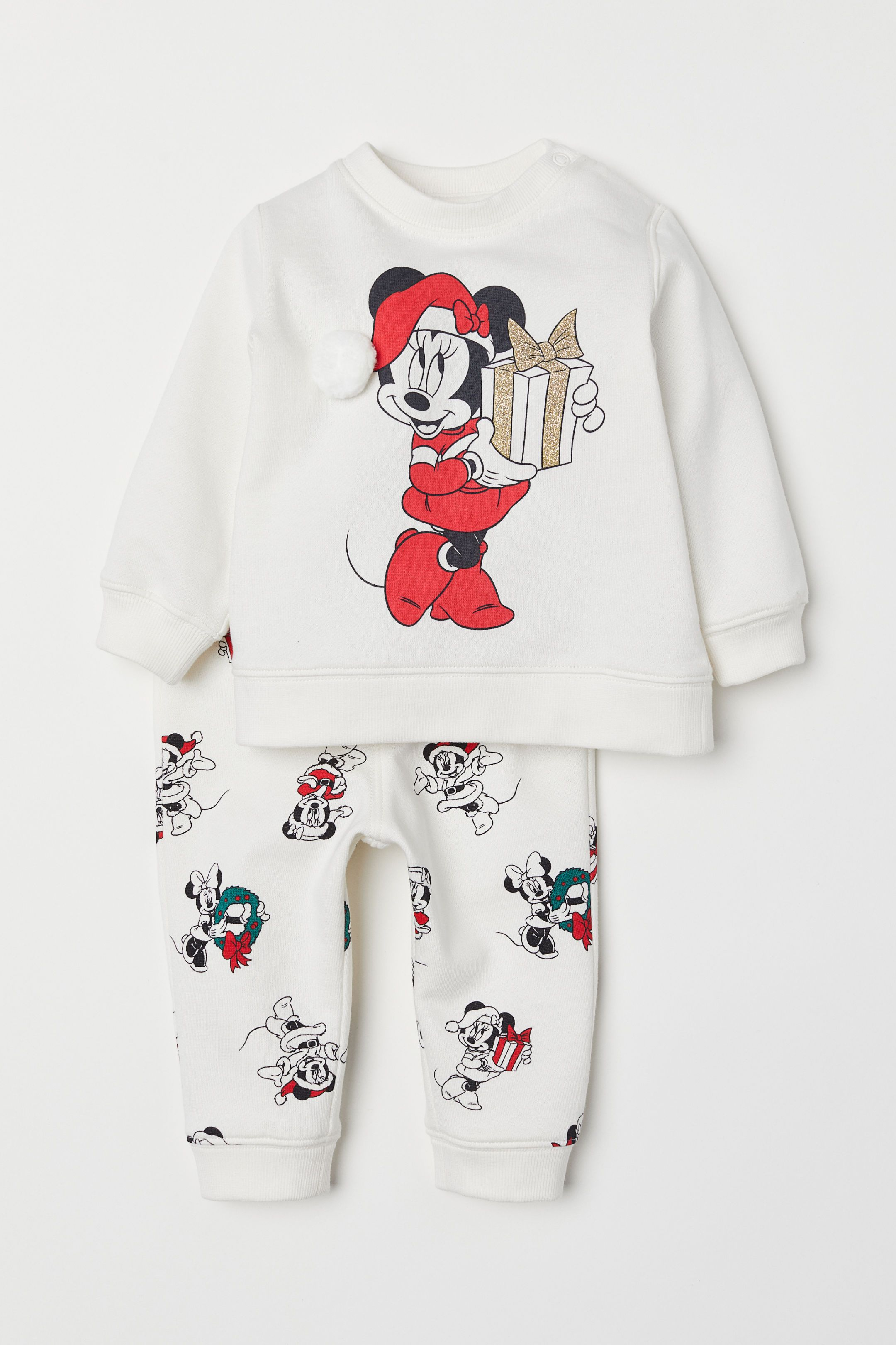 Sweatshirt And Pants White Minnie Mouse Kids H M Us Baby Girl Pants Disney Baby Clothes Luxury Baby Clothes [ 3240 x 2160 Pixel ]
