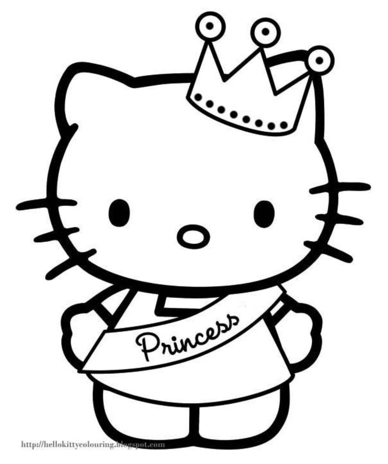 Génial Hello Kitty Jeux Coloriage   Imprimer et Obtenir une Coloriage Gratuit Ici