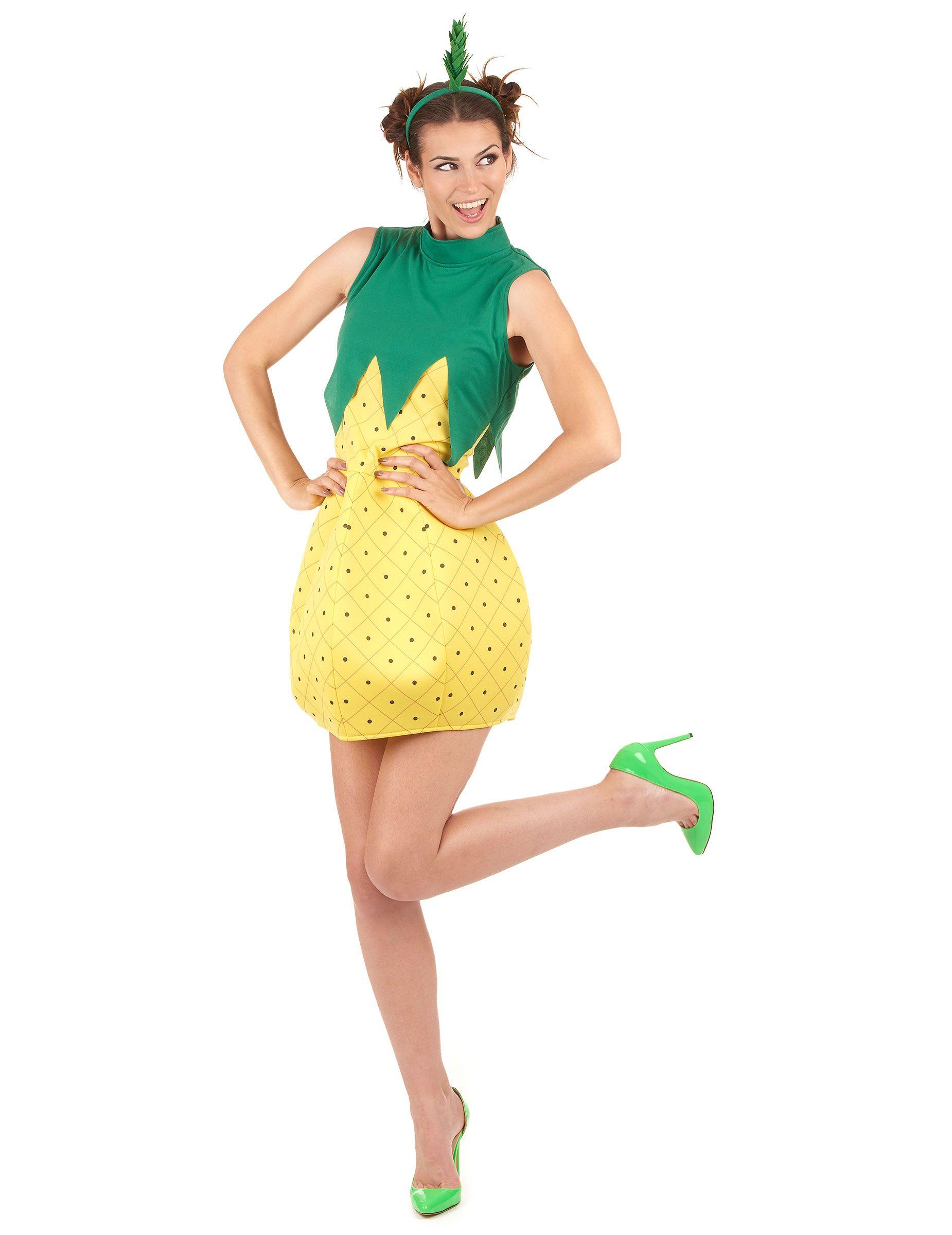 s sse ananas damenkost m frucht gelb gr n in 2018 lustige karnevalskost me pinterest. Black Bedroom Furniture Sets. Home Design Ideas