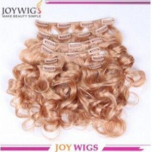 cheap 100% human hair ombre hair extension clip in, notangle no shedding clip in brazilian hair