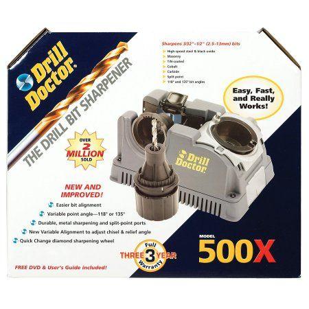 Drill Bit Sharpener: Drill Doctors 500X Drill Bit Sharpener DD500X, Multicolor