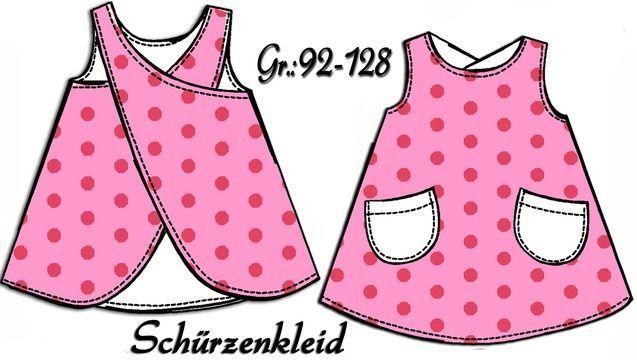 Schnittmuster Schürzenkleid Gr.:92-128 | Pinterest | Schürzenkleid ...