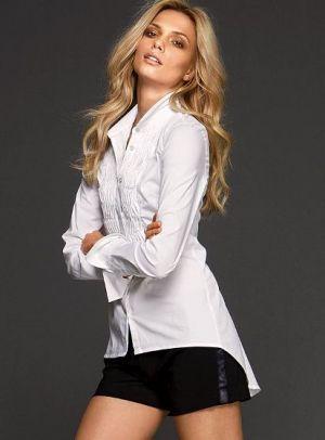 Love this shirt! Wish they still had it. - victorias secret white tuxedo shirt