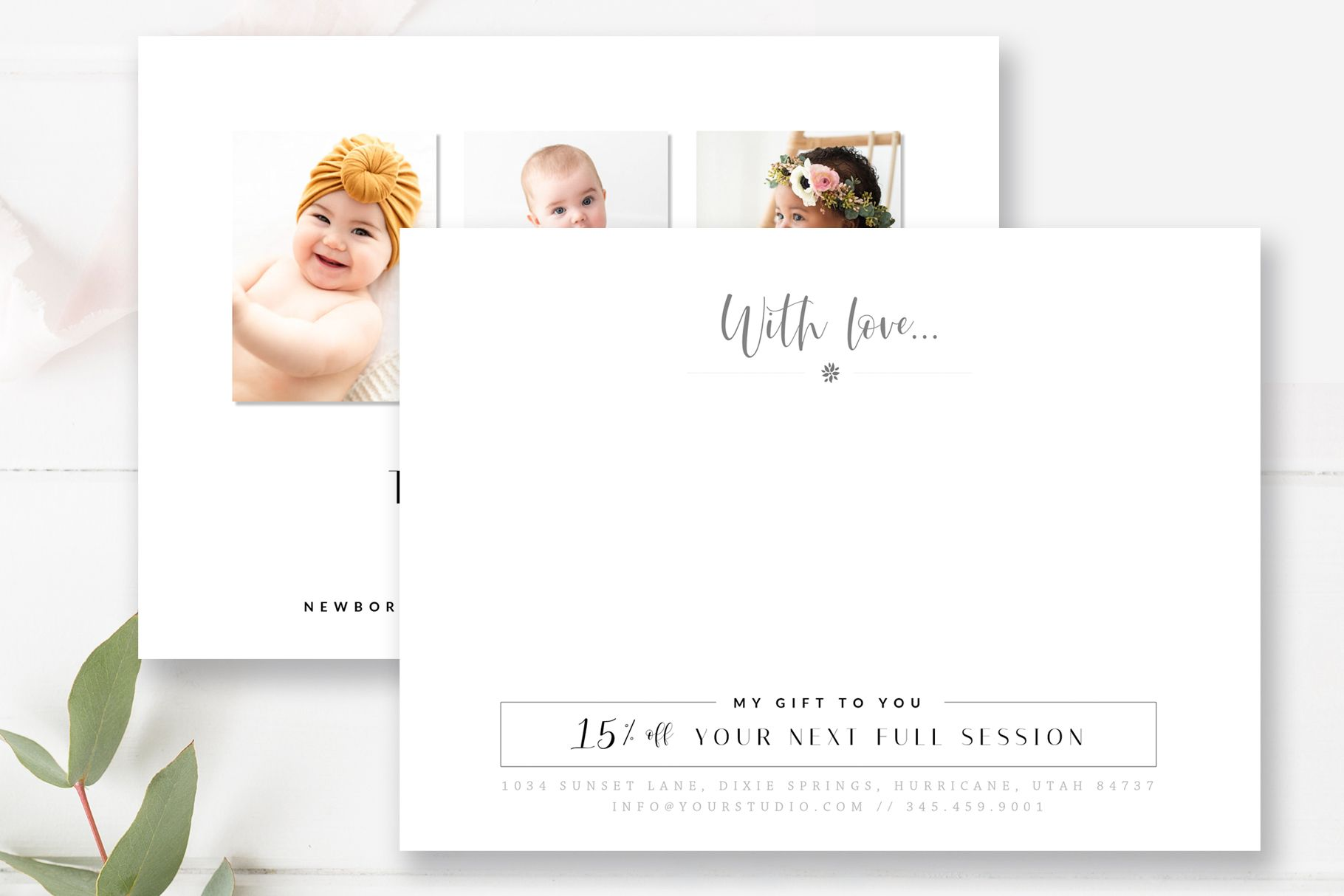 Send Your Client A Thank You Card And Add A Personal Touch To Your Branding Photoshop Template Design Thank You Card Template Photography Marketing Templates