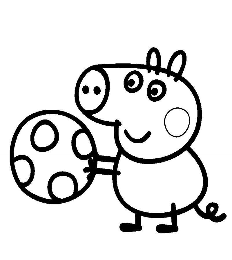 05 Peppa Pig Con Balon Dibujo De Peppa Pig Peppa Para Pintar Peppa Pig Para Colorear