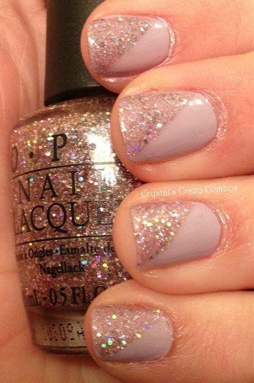Half Sparkle Nails Nails Sparkle Nails Nail Designs
