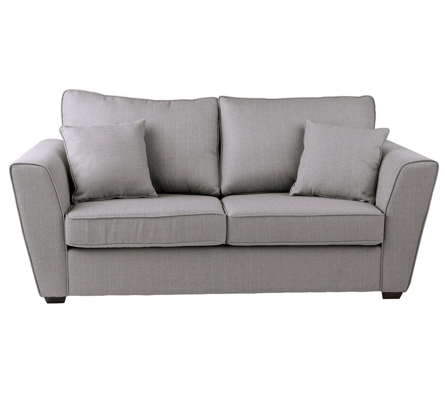 Astounding Buy Collection Renley 2 Seater Fabric Sofa Bed Light Grey Machost Co Dining Chair Design Ideas Machostcouk