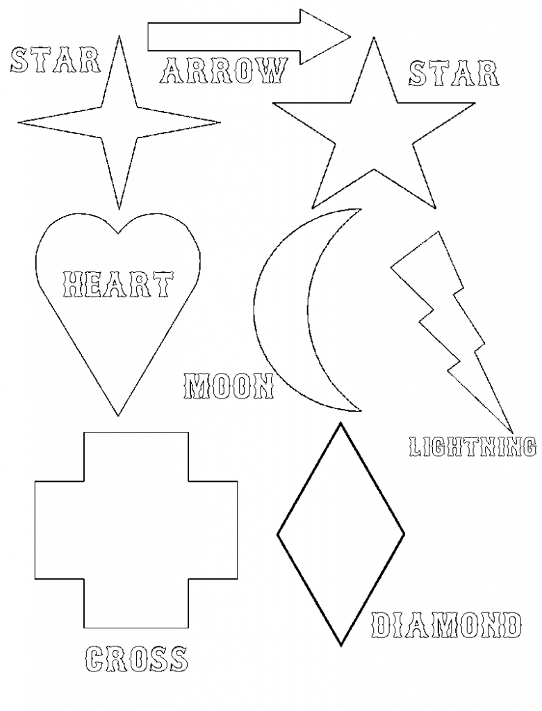 Free Printable Shapes Coloring Pages For Kids | Pinterest ...