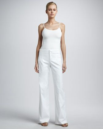 Wide-Leg Linen Pants, Women\'s by Adrienne Vittadini at Neiman Marcus Last Call.