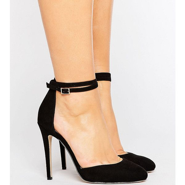 dc9613a55a1 ASOS PLAYDATE Wide Fit High Heels ($40) ❤ liked on Polyvore ...