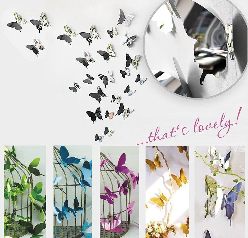 Delicieux FUNLIFE 3d Mirror Like Plastic Butterflies For Garden Decoration /for  Weddings, View Plastic
