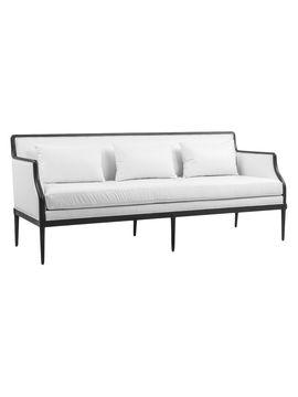 Darksome and white on white sofa