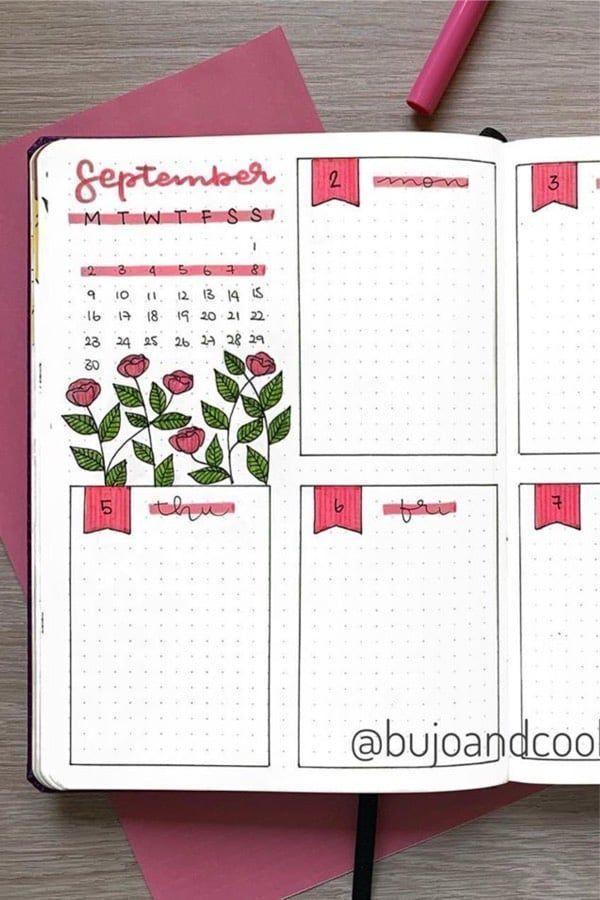 35+ Beste Ideen fr die wchentliche Verbreitung von Bullet-Journals im September ...