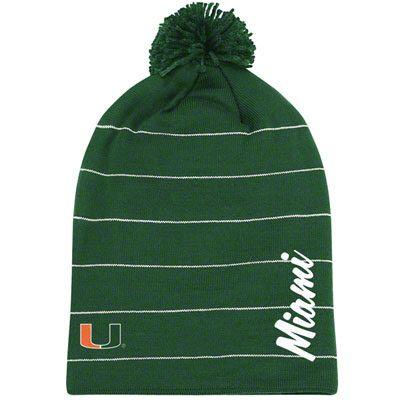Women's Miami Hurricanes Knit Hat - adidas Originals Long Top