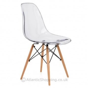 love the transparent look check out the eames style wooden chair