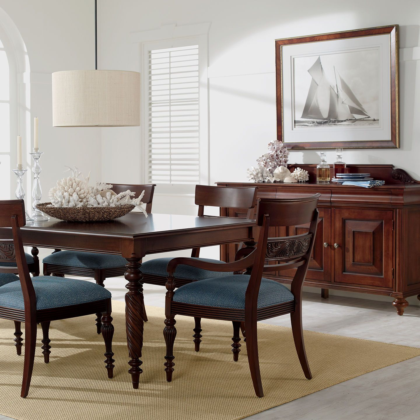 Influenced By Island Antiques The Clic Livingston Dining Table