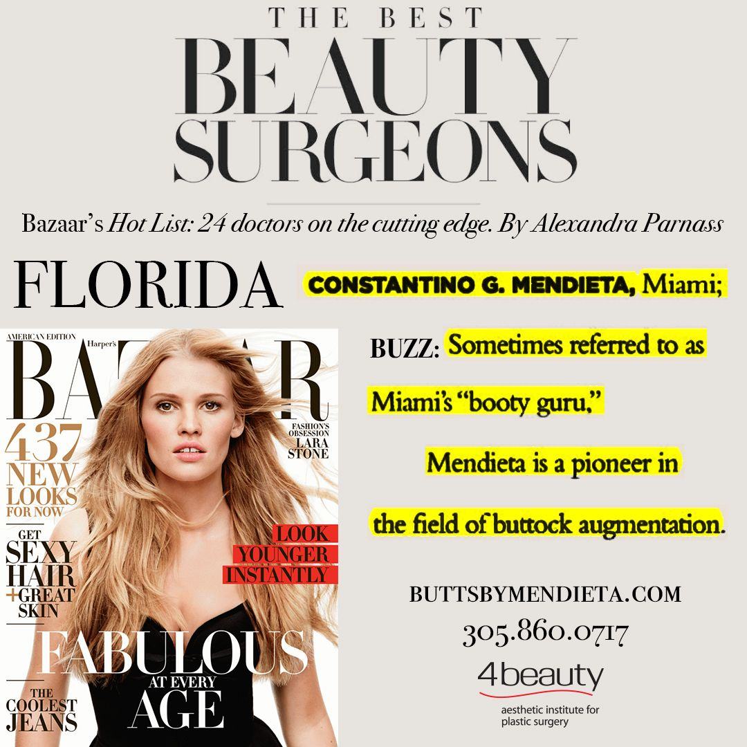 @harpersbazaarus The Best Beauty Surgeons – Dr. Mendieta #Miami #Florida
