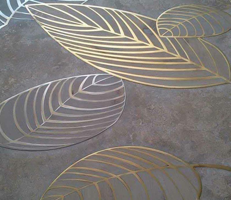 Fußboden  Holz Parkett Fußboden mit patentiertem Blatt Motiv   Hintergründe ...