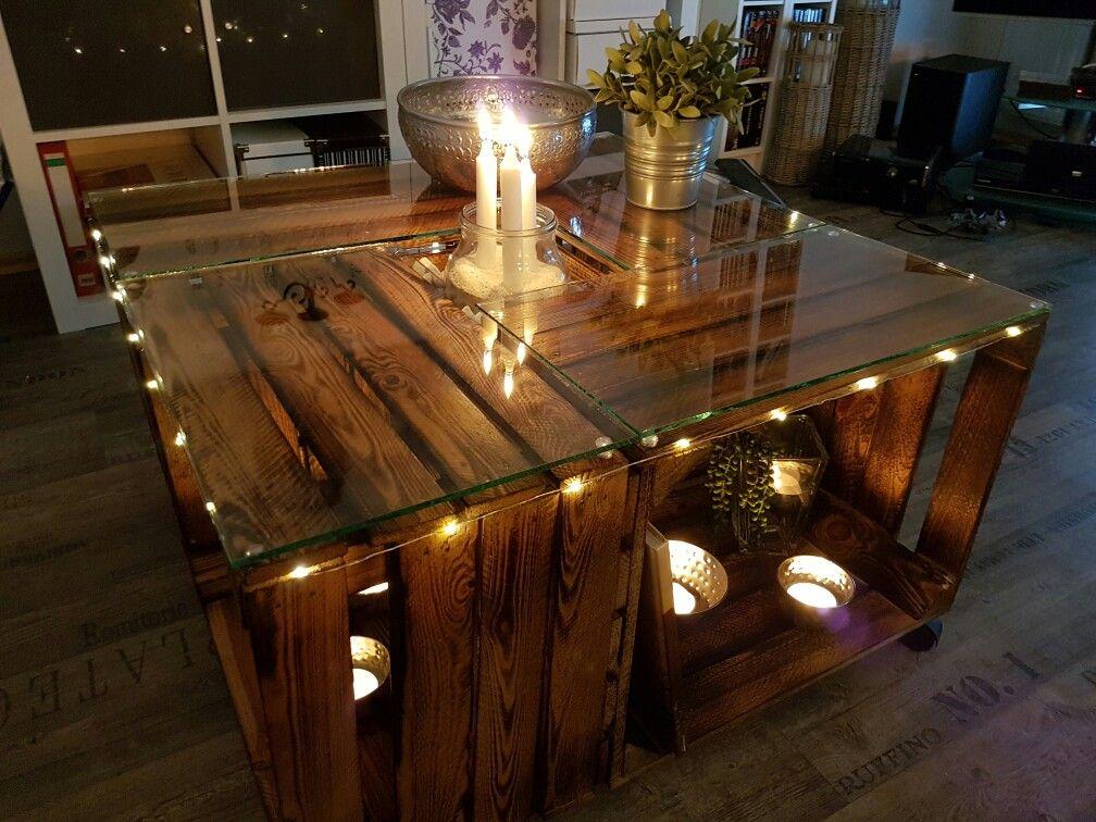 mein tisch aus obstkisten ist gerade fertig geworden. Black Bedroom Furniture Sets. Home Design Ideas