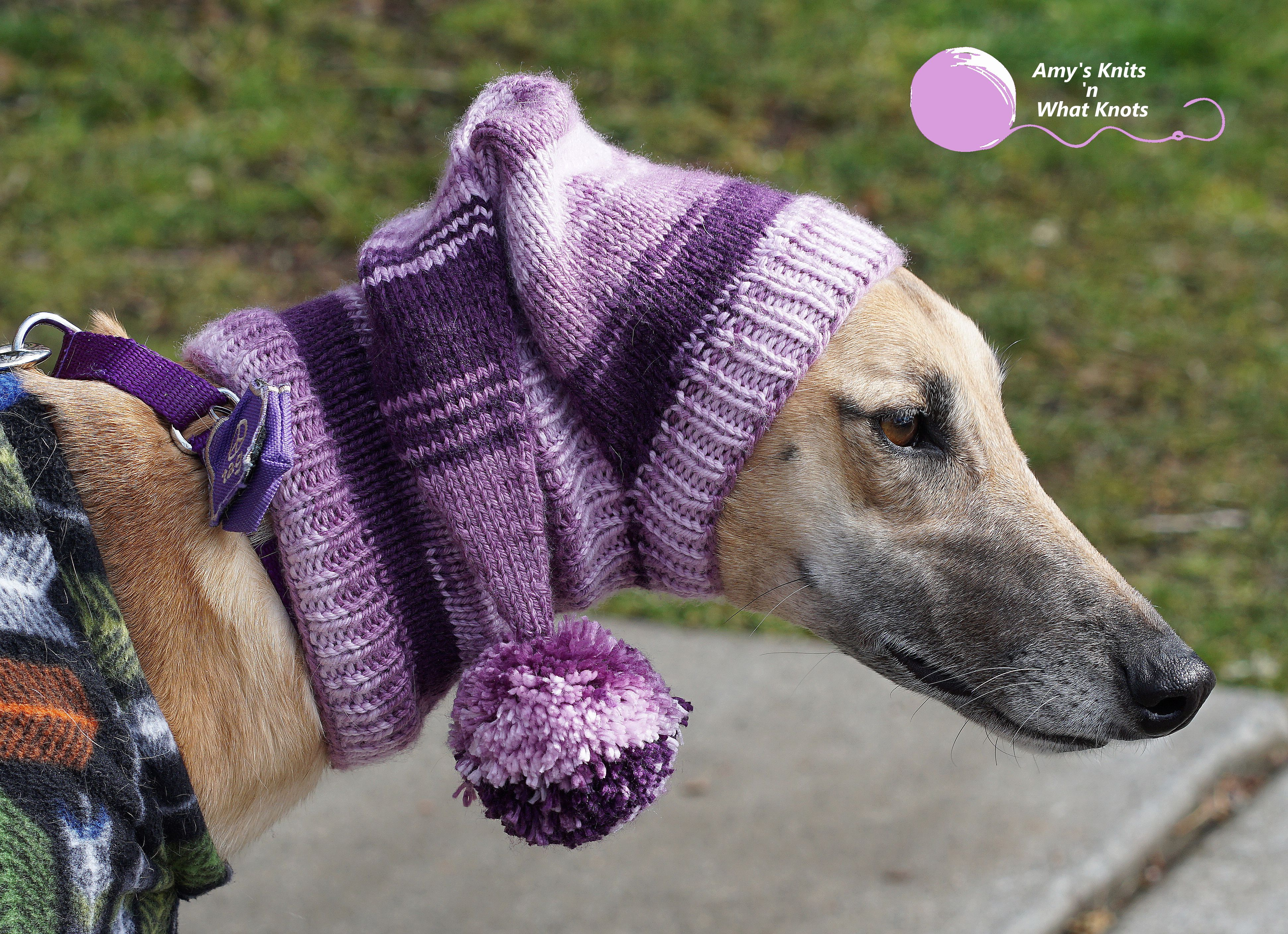 Greyhound Snood made by Amy's Knits & What Knots. Free ...