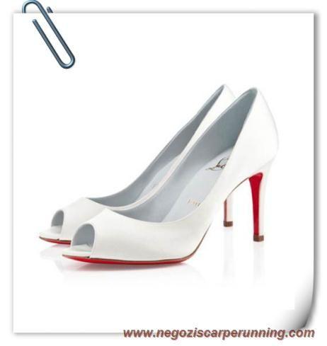 Donna Christian Louboutin You You 100mm Satin Bianco scarpe da calcetto migliori