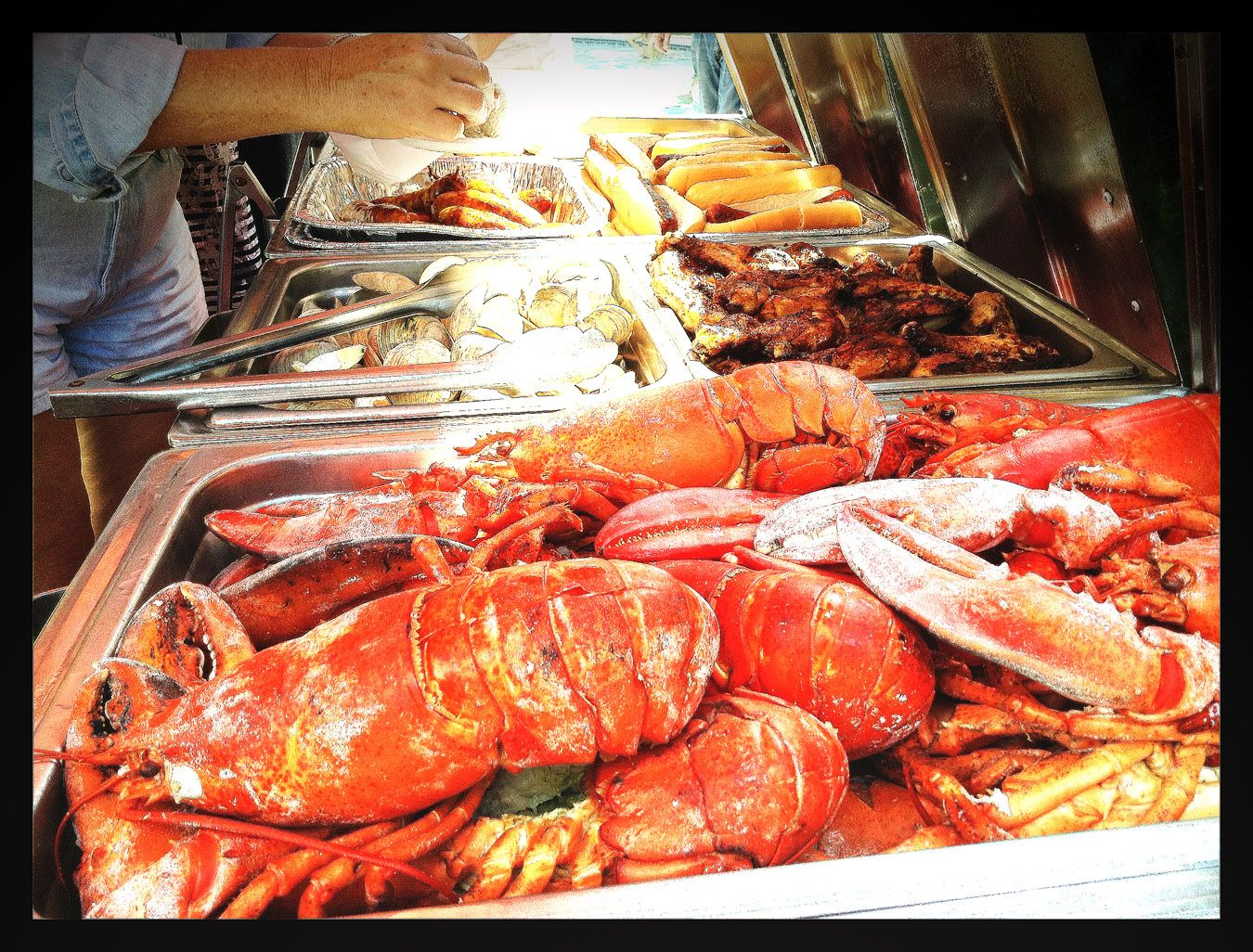 Clam bake, King crab legs, Bbq company