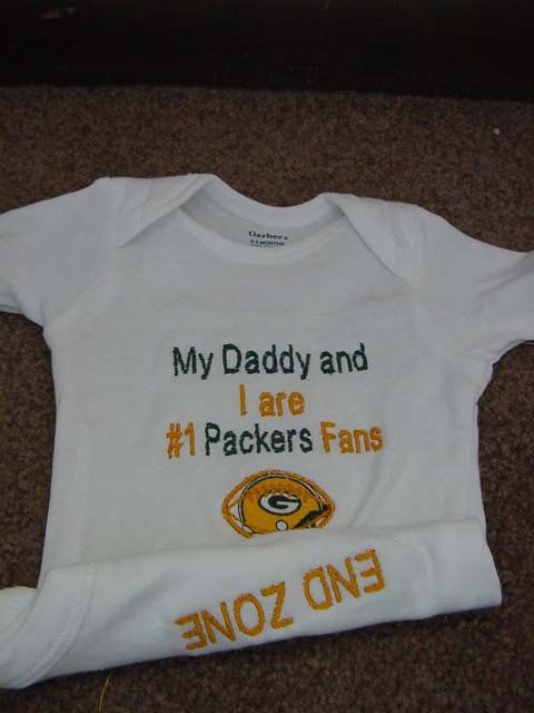 bd255ae6d Green Bay Packers Football Baby Infant Newborn Onesie creeper on Etsy