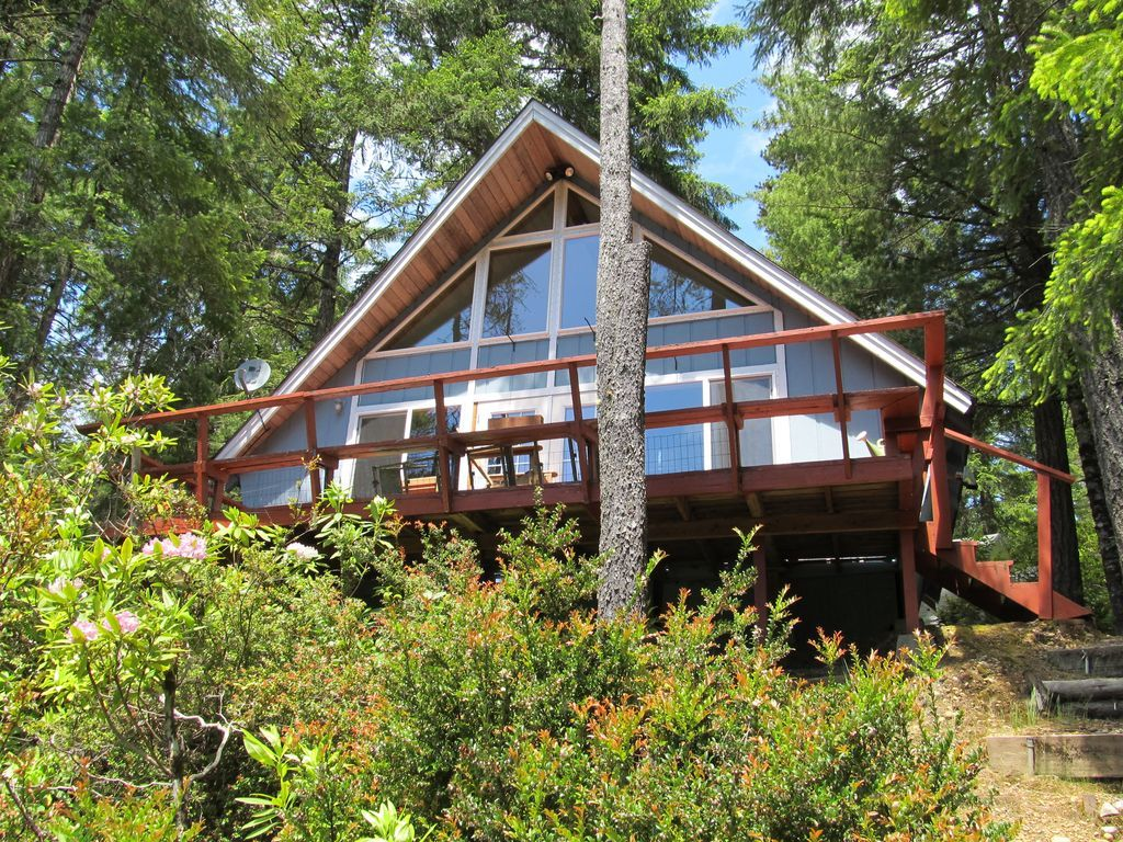 768 Sq  Ft  Waterfront A-frame Cabin For Sale in Tahuya, WA