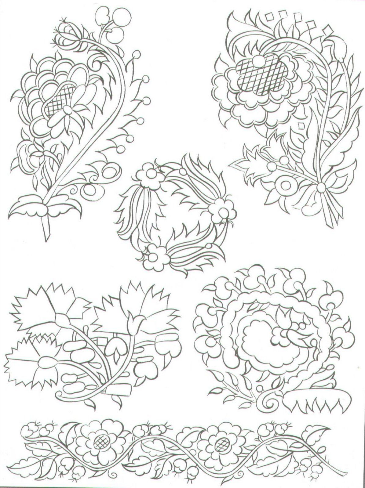 Jacobean embroidery patterns | diseños | Pinterest | Bordado ...