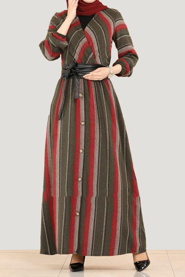 فستان خمري زيتي أورما تسوق أون لاين حجاب مودانيسا أزياء محجبات ملابس محجبات فساتين جلباب عباية ملابس فس Dresses Dresses With Sleeves Long Sleeve Dress