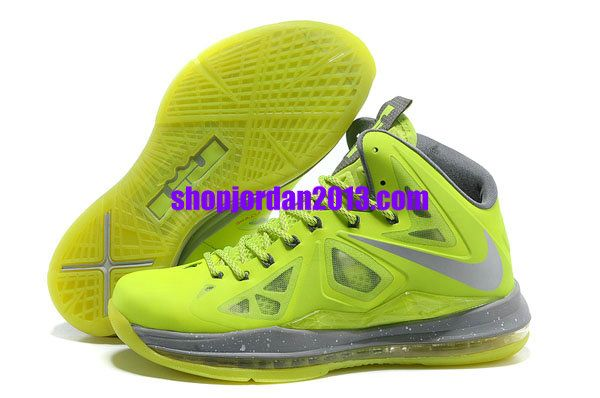 f8aac155d9f Nike Lebron 10 Fluorescent Green Lebron James Shoes 2013