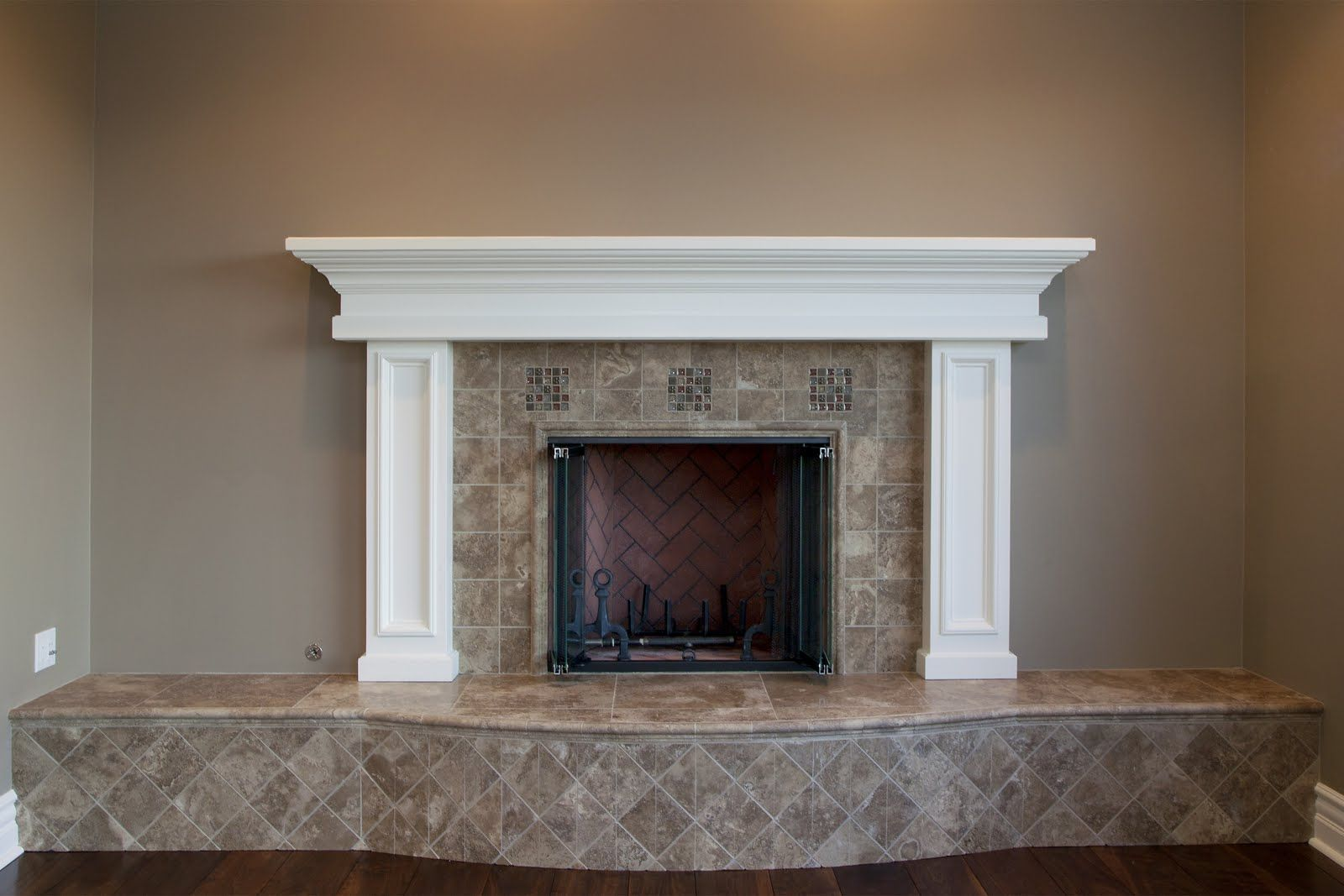 Tile Fireplace And Hearth Designs The Fireplace Box With Terra