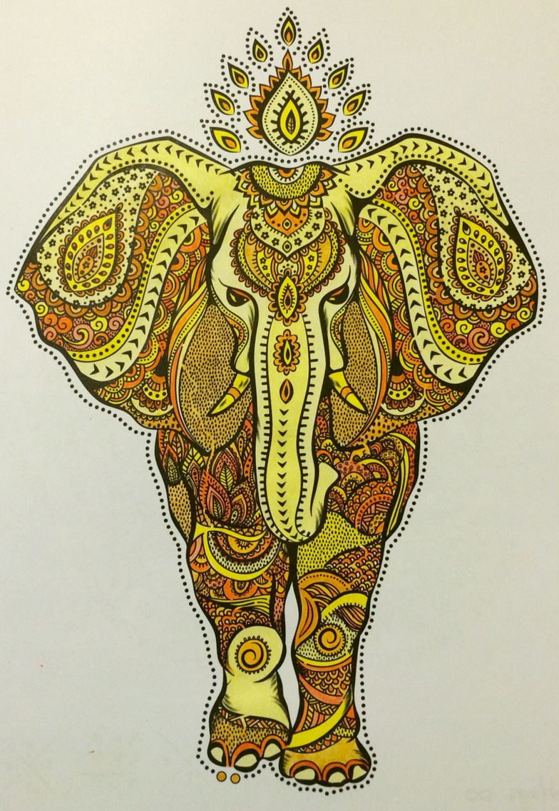 Zentangle coloured in shades of yellow and orange | Colorante ...
