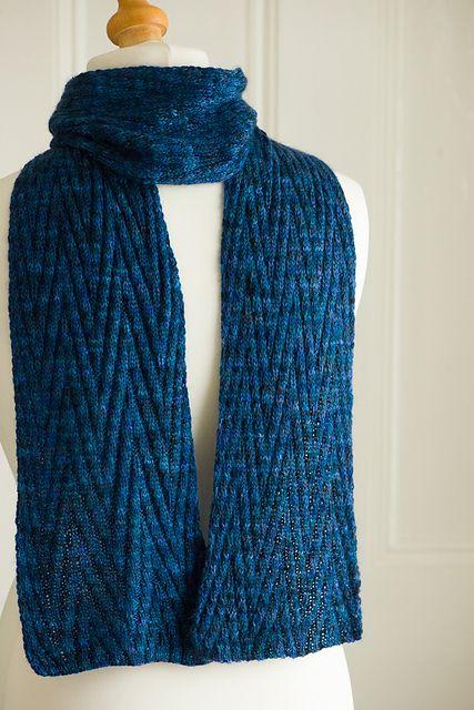 Free Knitting Pattern Reversible Chevron Scarf Pattern By Debbie