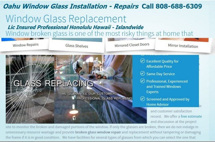 Vinyl Window Replacement - Window Glass Repairs Installed 75000+ Windows & Doors In Hawaii. Call Us For Free In-Home Estimate. Types: Stacking Windows, Patio Doors, Replacement Windows #glassrepair