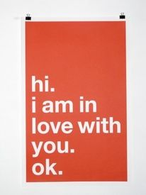 hi. i am in love with you. ok. | Colossal