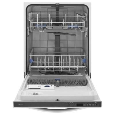 Whirlpool Top Control Dishwasher in White with Silverware