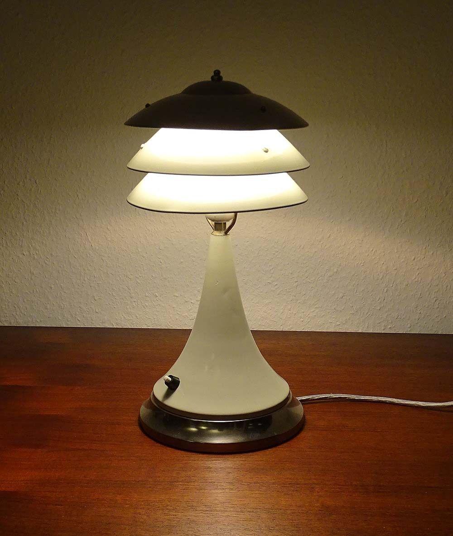 Grosse Art Deco Tischlampe Lampe Chrom Frankreich 30er Jahr Petitot Adnet Ebay Lampe Art Deco Lampen Art Deco