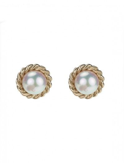 Gold Pearl Stud Earrings Available At Onyx Goldsmiths