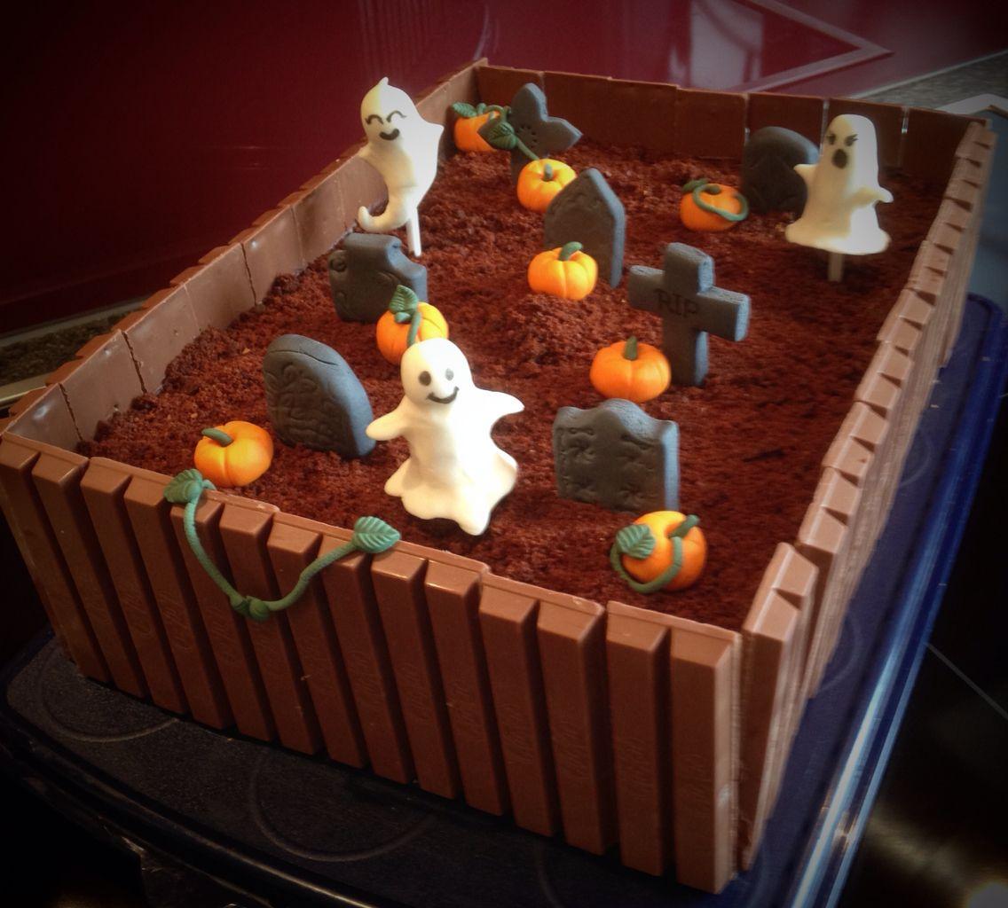 halloween torte cake friedhof grab graveyard grave