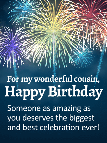 You are Amazing! Happy Birthday Wishes Card for Cousin   Happy birthday  cousin, Cousin birthday, Happy birthday wishes cards