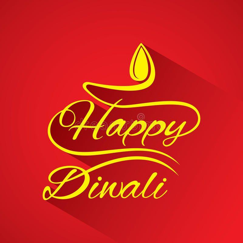 Happy Diwali Greeting Design Stock Vector - Illustration of hinduism, festive: 95574674