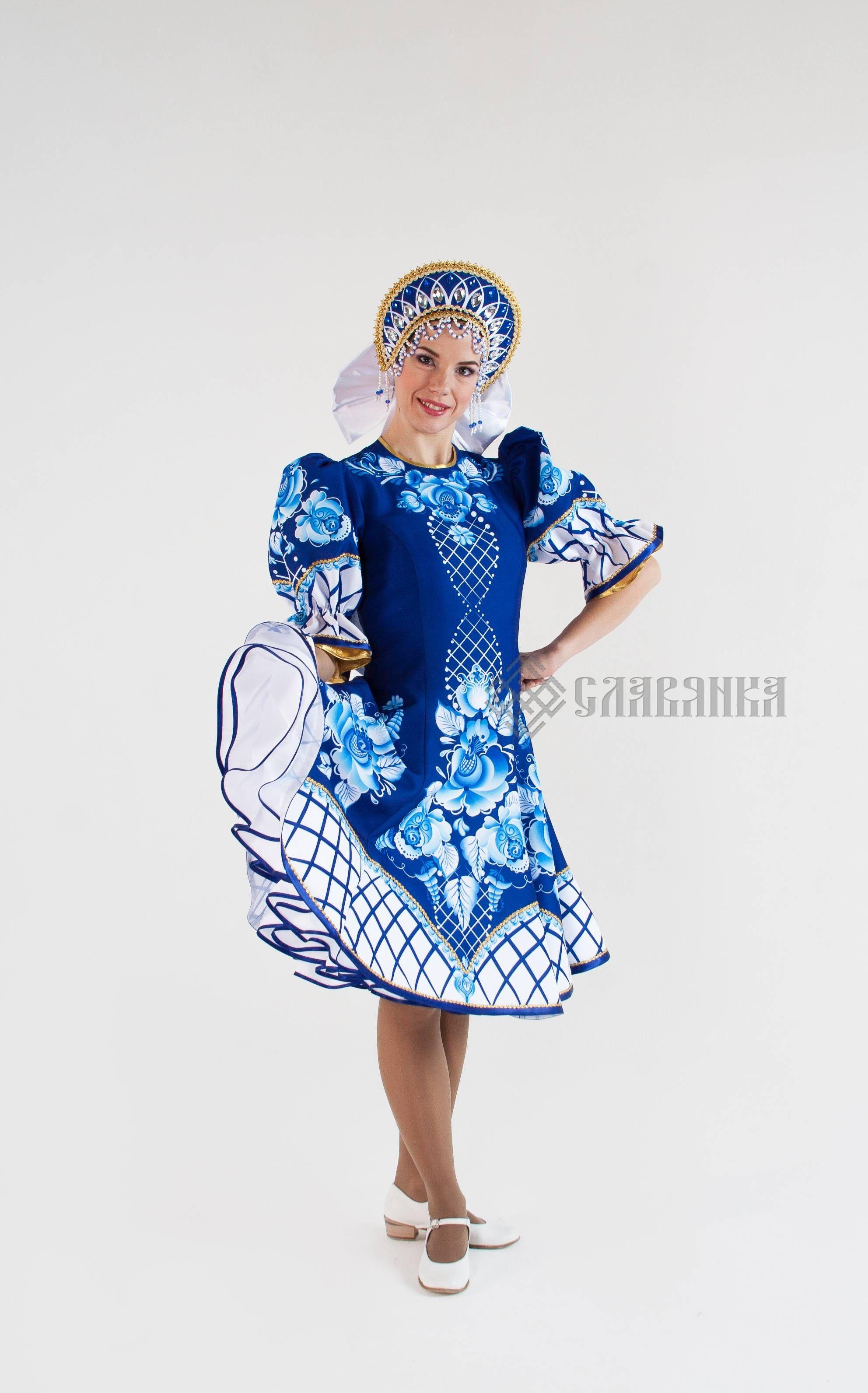 """Танцевальный костюм женский """"Гжель Кобальт"""". Фото N5 ..."""