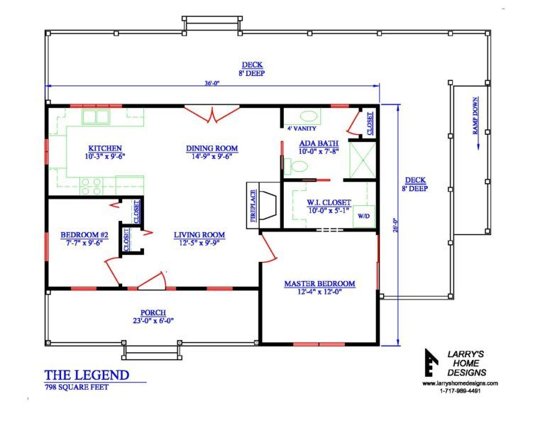 798 Sq Ft Wheelchair Accessible Small House Plans Accessible House Plans Tiny House Plans Small House Plans