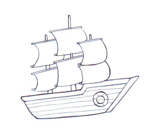 How To Draw A Boat Boat Drawing Simple Boat Drawing Ship Drawing