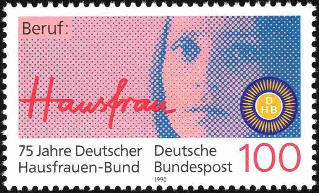 Briefmarke Woman's Face / Housewife (Deutschland (BRD