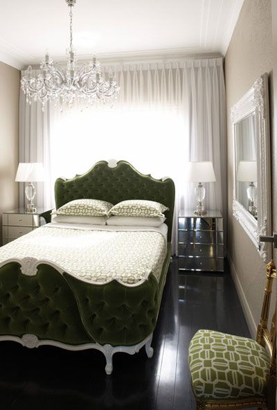 Head Board Case With Images Green And White Bedroom Beautiful Bedrooms Dreamy Bedrooms